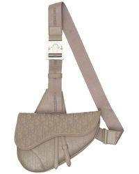 Dior Oblique Galaxy Saddle Bag - Natural