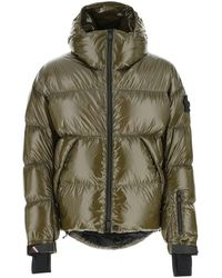 3 MONCLER GRENOBLE Logo Patch Puffer Jacket - Green