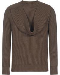 Dior Scarf Detail Jumper - Brown