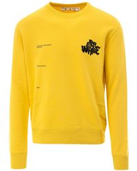 Off-White c/o Virgil Abloh Logo Crewneck Sweatshirt - Yellow