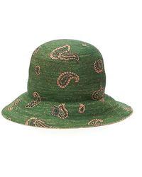 Etro Paisley Printed Woven Sun Hat - Green