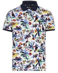 Polo Ralph Lauren Nautical Graphic Print Polo Shirt - Blue