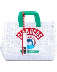 Gcds Ciao Tote Bag - White