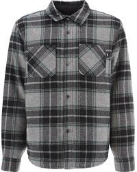 """Stussy """"max Plaid Quilted"""" Jacket - Grey"""