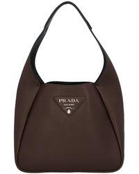 Prada Hobo Shoulder Bag - Brown