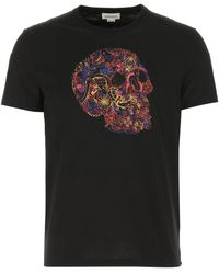 Alexander McQueen London Skull Print T-shirt - Black