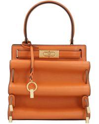 Tory Burch Lee Radziwill Petite Accordion Shoulder Bag - Orange