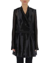 Helmut Lang - Double Breasted Sheer Coat - Lyst