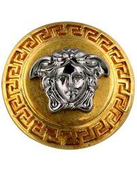 Versace Gold Two-tone Medusa Ring - Metallic