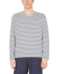 YMC P7qady062navy Other Materials Sweatshirt - White