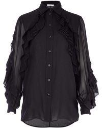 Givenchy Ruffled Blouse - Black