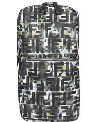 Fendi Ff Motif Camouflage One-shoulder Backpack - Green