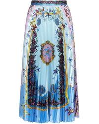 Versace Printed A-line Skirt - Blue