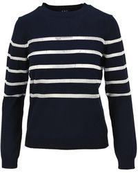 A.P.C. Cordelia Stripe Knit Sweatshirt - Blue