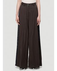 MM6 by Maison Martin Margiela Wide-leg Trousers - Brown