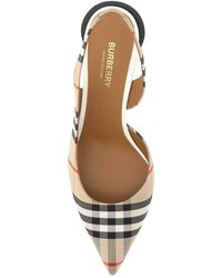 Burberry Vintage Check Slingback Court Shoes - Brown