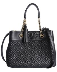 ace0ebfa8c4a Lyst - Tory Burch Fleming Diamond-quilted Swing-pack Tote Bag ...