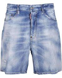 DSquared² Distressed Denim Shorts - Blue