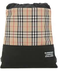 Burberry Checked Backpack - Multicolor