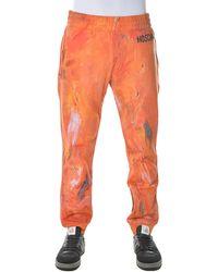 Moschino Paint Effect Elasticated Waist Trousers - Orange