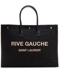 Saint Laurent Rive Gauche Tote Bag - Black