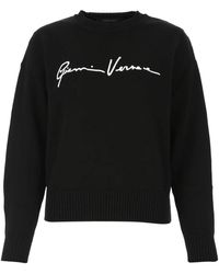 Versace Gv Signature Jumper - Black