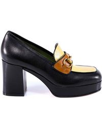 fba96c5d9ee5 Gucci Ursula Patent Leather Horsebit Ankle Strap Sandals in Black - Lyst