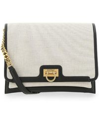 Ferragamo Trifolio Flap Crossbody Bag - Natural