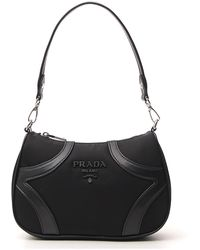Prada Logo Bowling Bag - Black