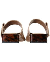 Ganni Painted Mules - Brown