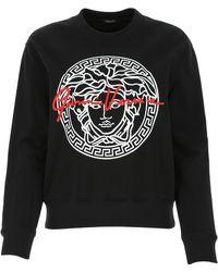 Versace Medusa Logo Print Sweatshirt - Black