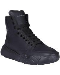Alexander McQueen Court High-top Sneakers - Black