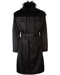 Prada Belted Coat - Black