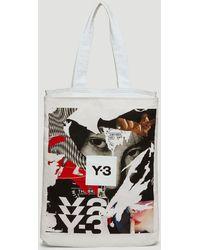 Y-3 Ch1 Graphic Print Tote Bag - White
