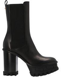 Versace Greca Labyrinth Boots - Black