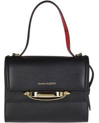 Alexander McQueen The Story Top Handle Bag - Black