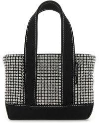 Alexander Wang Embellished Fabric Mini Cruiser Handbag Tu - Black