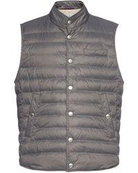 Brunello Cucinelli Quilted Nylon Vest - Grey