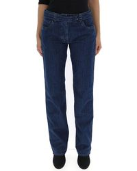 Prada Belted Straight Jeans - Blue