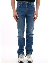 Balenciaga Washed Denim Jeans - Blue