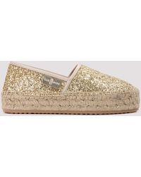 Car Shoe Glittered Espadrilles Eu 36 - Metallic