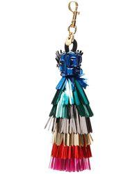Anya Hindmarch Tassel Key Ring - Blue