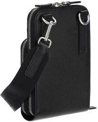 Prada Triangle Logo Phone Crossbody Bag - Black