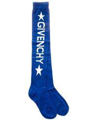 Givenchy Star Logo Socks - Blue