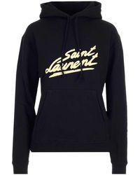 Saint Laurent 50s Signature Hoodie - Black