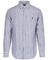 Polo Ralph Lauren Striped Button-up Shirt - Blue