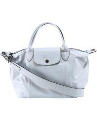 Longchamp Le Pliage Cuir Small Top Handle Bag - Blue