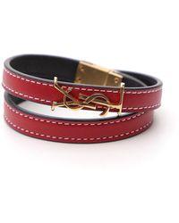 Saint Laurent Opyum Double Wrap Bracelet - Red
