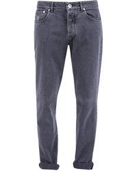 Brunello Cucinelli Straight Leg Jeans - Grey