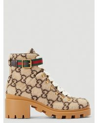 Gucci GG Logo Boots - Brown